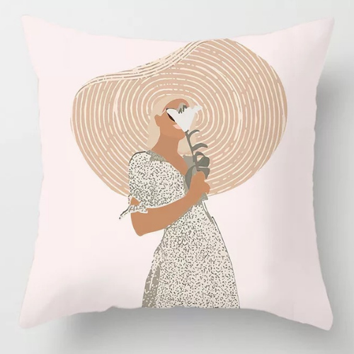 1 Piece  Girl Design, Decorative Cushion Cover. - BusDeals Today