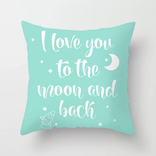 1 Piece I Love You to The Moon & Back Design, Decorative Cushion Cover. - BusDeals Today