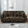 Printed Black Marble Design, Two Seater Sofa Cover.