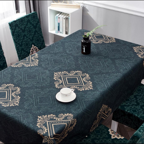Waterproof table linen, green bohemia design. - BusDeals Today