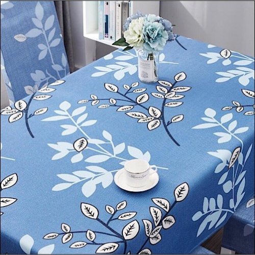 Waterproof table linen, white leaves design. - BusDeals Today