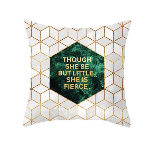1 Piece Geometric with Slogan Design, Decorative Cushion Cover. - BusDeals Today