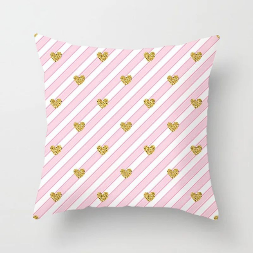 1 Piece Pink Stripe Pattern, Decorative Cushion Cover. - BusDeals Today