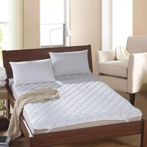 King Size, White Mattress Protector Pad , Bed Cover . - BusDeals Today