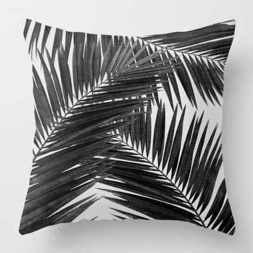 1 Piece  Black Leaves  Design, Decorative Cushion Cover. - BusDeals Today