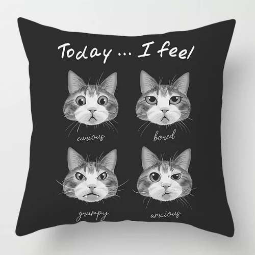 1 Piece  Black with 4 cat  Design, Decorative Cushion Cover. - BusDeals Today