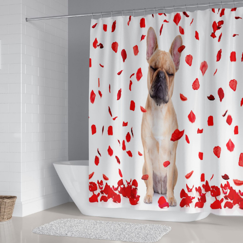 Dog Design, Shower Curtain with 12 Hooks. - BusDeals Today
