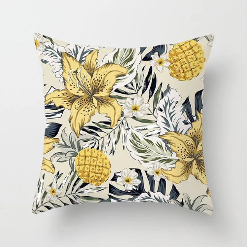 1 Piece Yellow Flower Design, Decorative Cushion Cover. - BusDeals Today