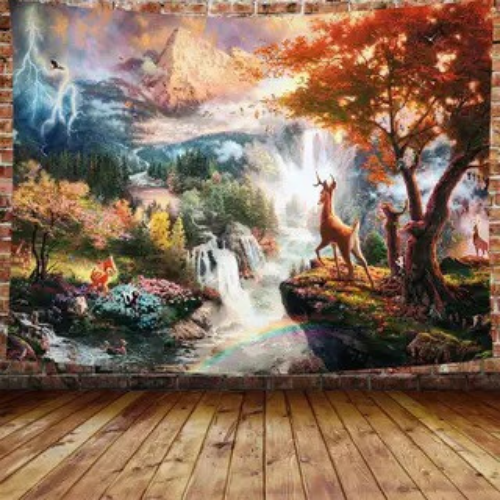 Wall Tapestry Home Decor, Waterfalls Design. - BusDeals Today