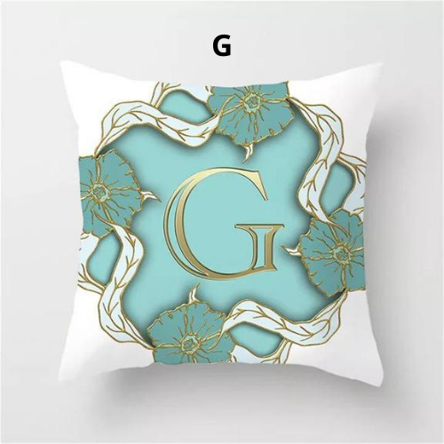 1 Piece Letter Graphic Design Cushion Cover - BusDeals Today