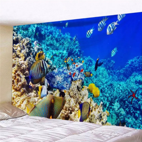 Wall Tapestry Home Decor, Corals Design. - BusDeals Today