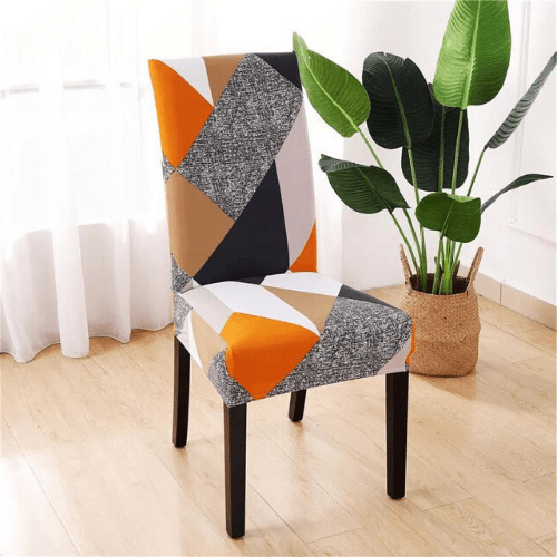 Chair cover, geometric design. - BusDeals Today