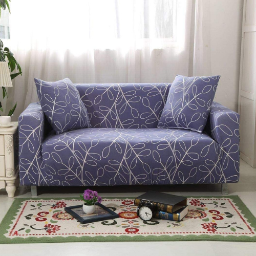 Slipcover three seater, leaves design. - BusDeals Today