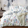 6 Pieces King Size, Leaves Design White Color, Bedding Set without Filler