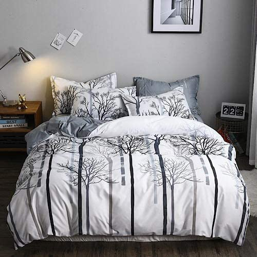 Queen/Double size trees design, bedding set of 6 pieces. - BusDeals Today