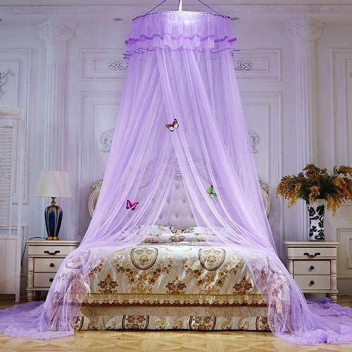Bed canopy net - purple color. - BusDeals Today