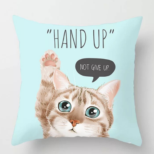 1 Piece  Hand up cat  Design, Decorative Cushion Cover. - BusDeals Today