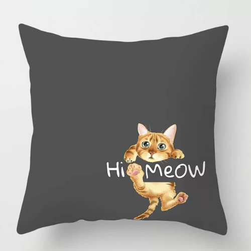 1 Piece  Black with cute cat  Design, Decorative Cushion Cover. - BusDeals Today