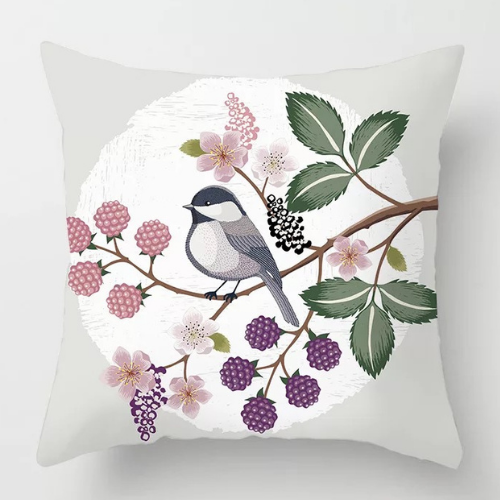 1 Piece  Grey with Floral  Design, Decorative Cushion Cover. - BusDeals Today