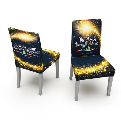 2 Pieces Christmas Chair Covers, Santa with Reindeer Design. - BusDeals Today