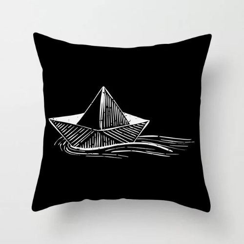 1 Piece White Boat Design, Decorative Cushion Cover. - BusDeals Today