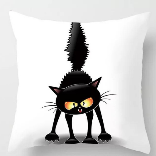 1 Piece Black Cat Design, Decorative Cushion Cover. - BusDeals Today