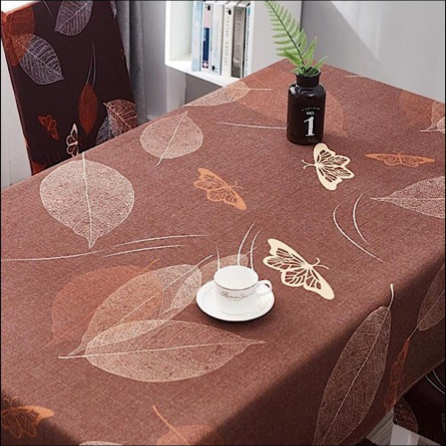 Waterproof table linen, leaves & butterfly design. - BusDeals Today