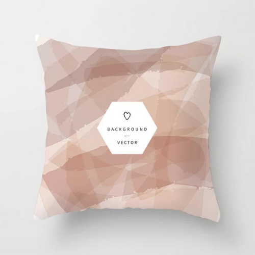 1 Piece Marble & Geometric Pattern, Decorative Cushion Cover. - BusDeals Today