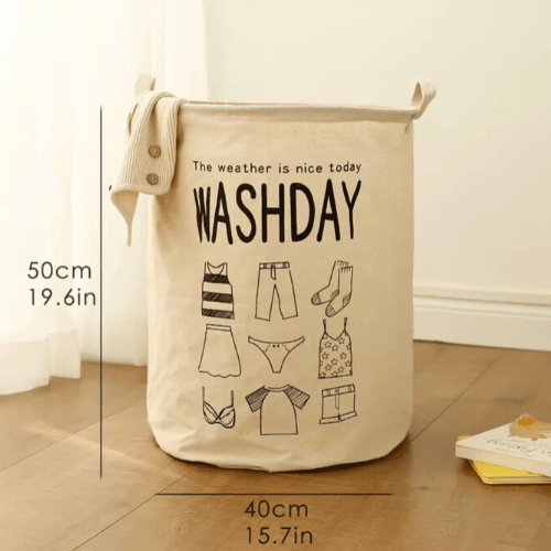 Laundry basket, washday design. - BusDeals Today