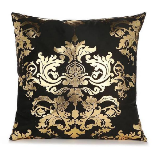 1 Piece Black & Gold Print, Decorative Cushion Cover. - BusDeals Today