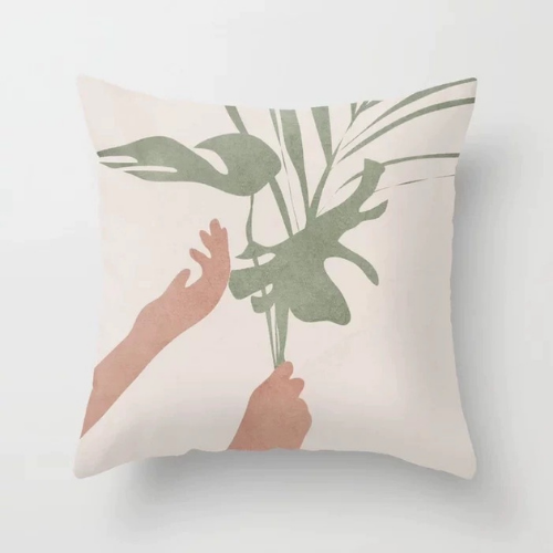 1 Piece Leaves & Hands Design, Decorative Cushion Cover. - BusDeals Today