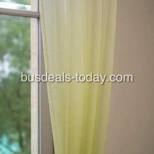 Green color ombre sheer, set of 2 pieces. - BusDeals Today