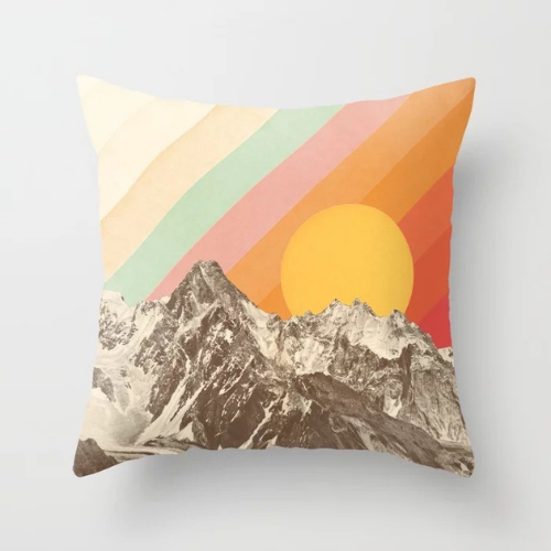 1 Piece Rainbow & Mountain Design, Decorative Cushion Cover. - BusDeals Today