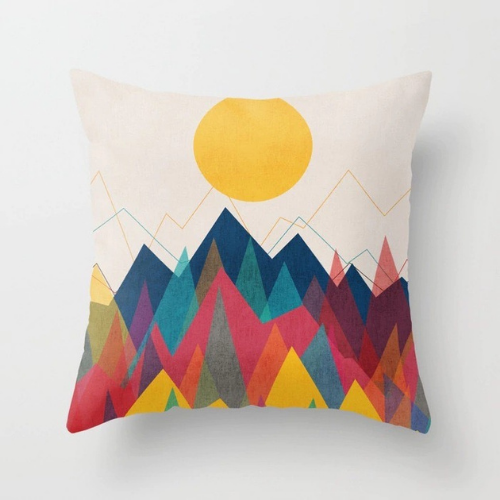 1 Piece Rainbow Mountain Design, Decorative Cushion Cover. - BusDeals Today