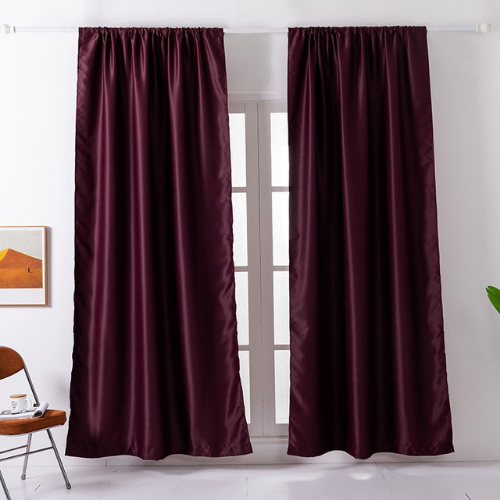 Window Curtains Maroon Color , set of 2 Pieces. - BusDeals Today