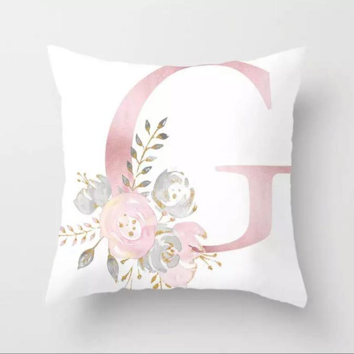 1 Piece Floral Letter G Design, Decorative Cushion Cover. - BusDeals Today