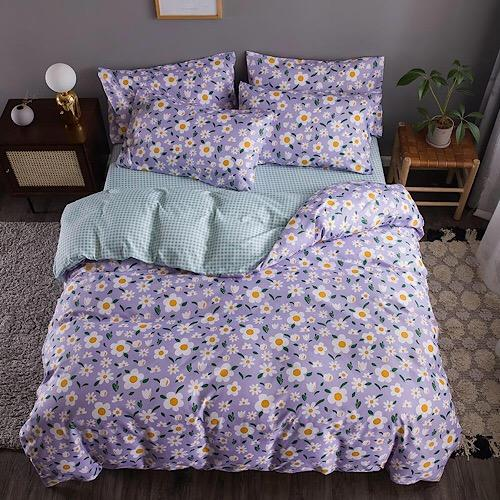 Queen/Double size Bedding set of 6 pieces, Daisies design. - BusDeals Today