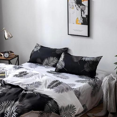 King size bedding set of 6 pieces, Leaves design. - BusDeals Today