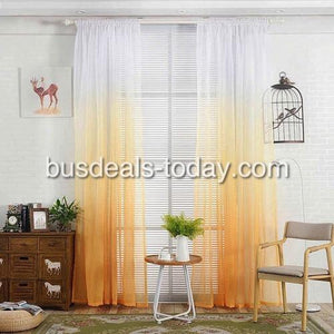 Orange color ombre sheer, set of 2 pieces - BusDeals