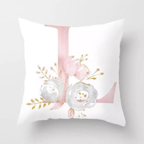 1 Piece Floral Letter L Design, Decorative Cushion Cover. - BusDeals Today