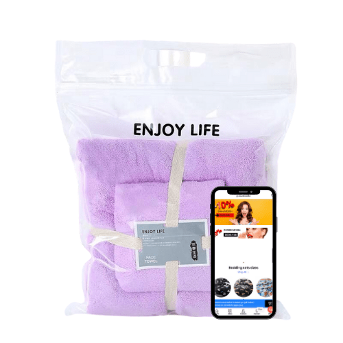 Quick drying supper absorption bath towel set of 2 pieces, Rose Red color. - BusDeals Today