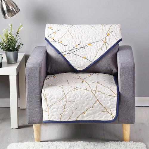 Reversible sofa cover one seater, twigs design. - BusDeals Today