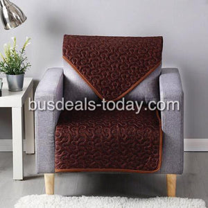 Reversible Sofa Cover, Printed Brown Design - Various Sizes - BusDeals