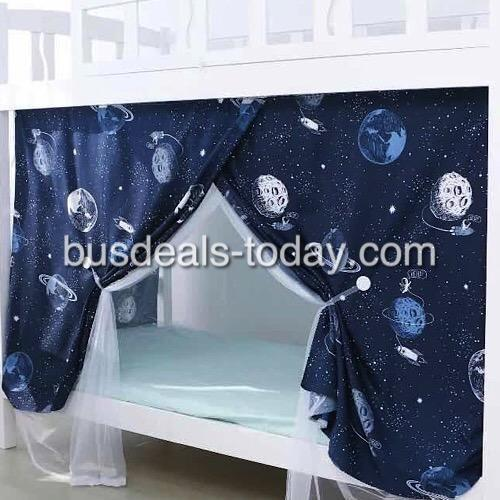 Bed curtain, galaxy design.