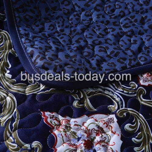 Reversible sofa cover one seater, blue bohemia design. - BusDeals Today