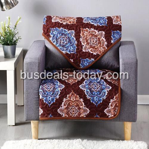 Reversible sofa cover one seater, brown bohemia design. - BusDeals Today