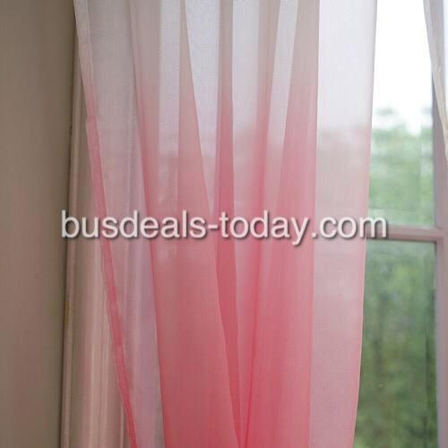 Pink color ombre sheer, set of 2 pieces. - BusDeals Today