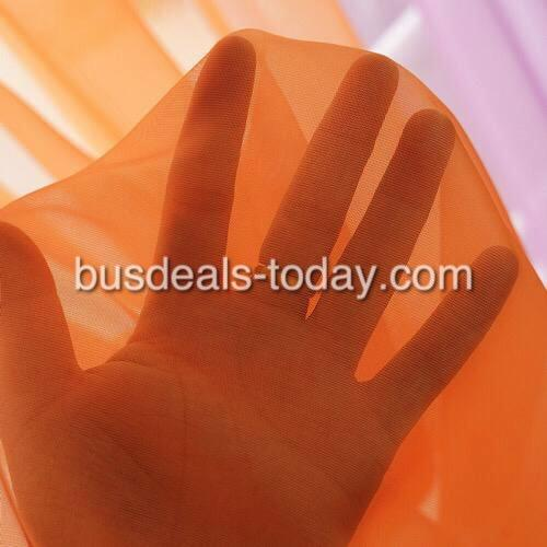 Window sheer, set of 2 pieces - various colors - BusDeals