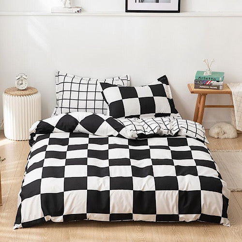 King size bedding set of 6 pieces, Squares design. - BusDeals Today