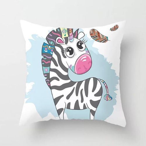 1 Piece Cute Zebra Design, Decorative Cushion Cover. - BusDeals Today